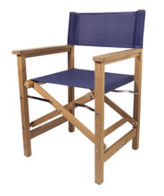 Teak Director's Chair (Available in Blue DURASLING Fabric)