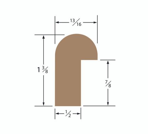 Teak Edge Molding 1-3/8 x 13/16 Straight Length