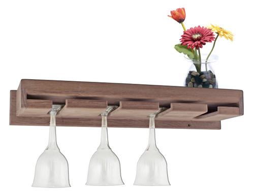 SeaTeak Wineglass Rack w/shelf