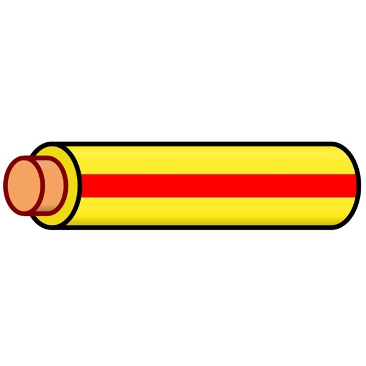K4 Auto & Marine Primary Electrical Wire Yellow W/Red Stripe 14 ...