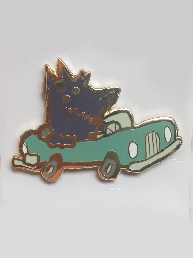 Car Dog Enamel Pin