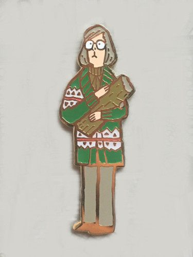 Log Lady Enamel Pin