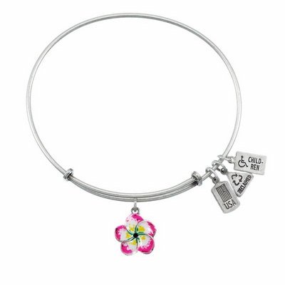 Wind and Fire 3D Plumeria Flower Charm with Bangle WF528