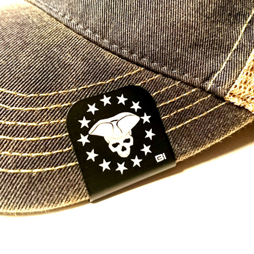 Hat clip Brim-it 3p Patriot skull