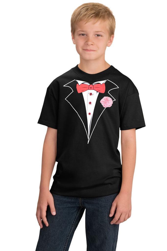 Kids Tuxedo T-shirt in Black