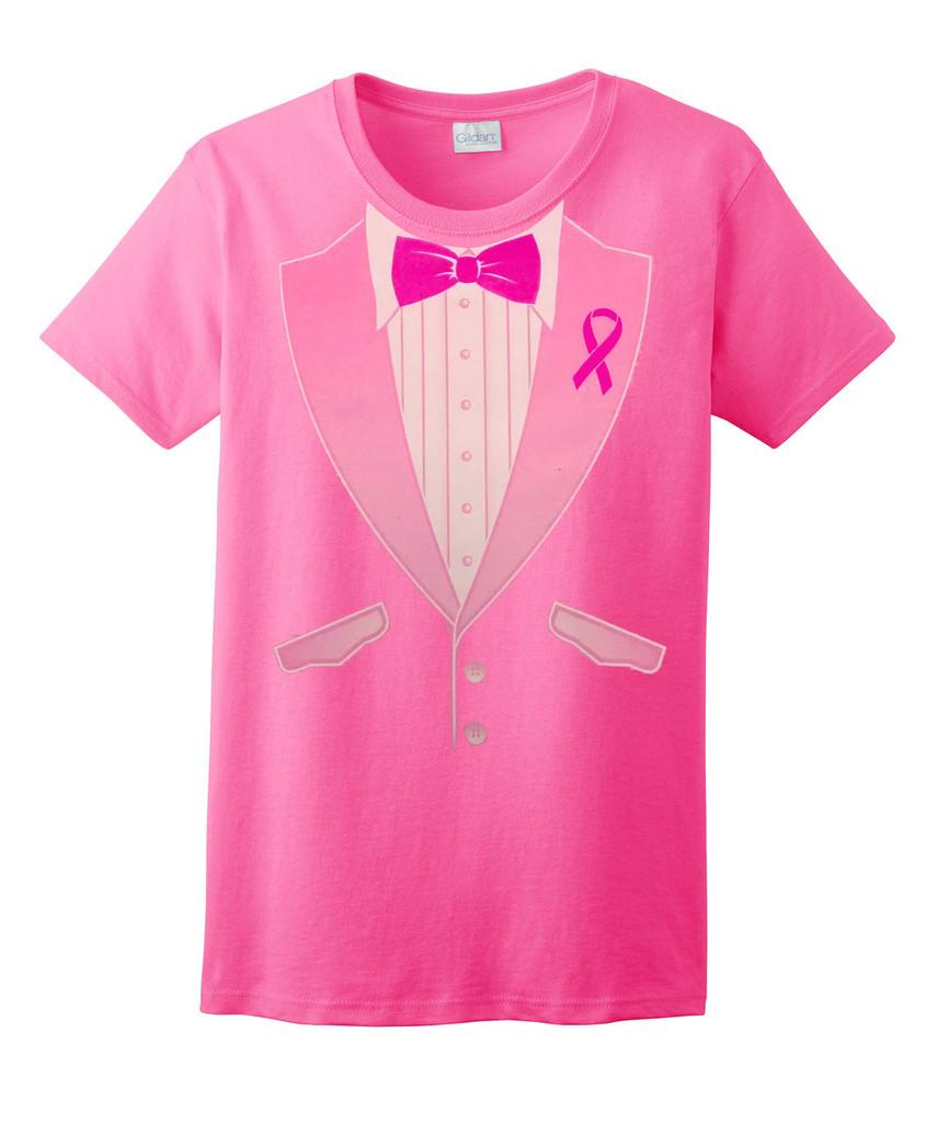 Charity Walk Pink Tuxedo T Shirt
