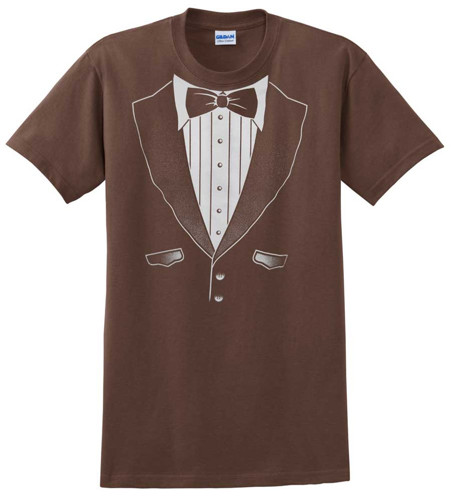 Original Brown Tuxedo T-Shirt - Heavy Cotton