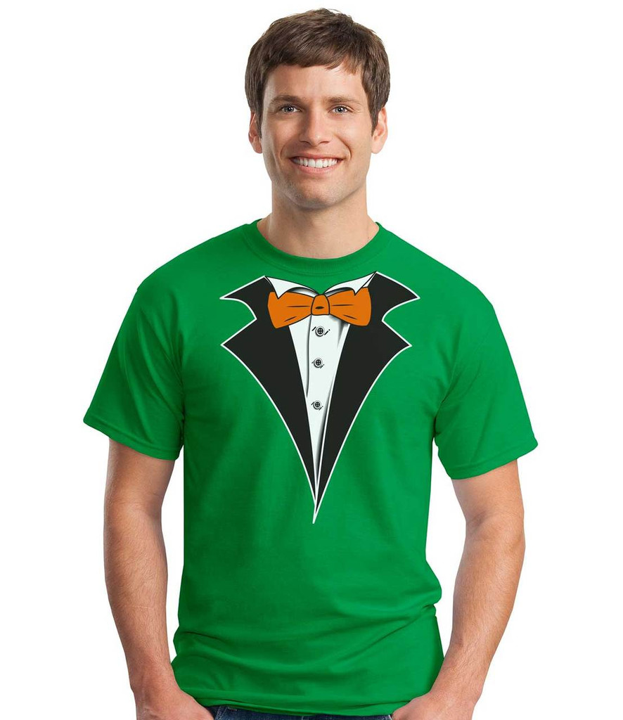 Tuxedo T-Shirt on Irish Green - St Patty Inspired