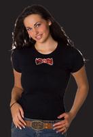 Missy Sizing Rhinestone just the Tie T-Shirt