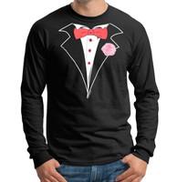 Tuxedo T-shirt Long Sleeve in Black