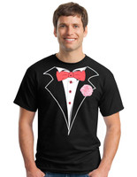 Tuxedo T-shirt in Black - Classic with Big and Tall