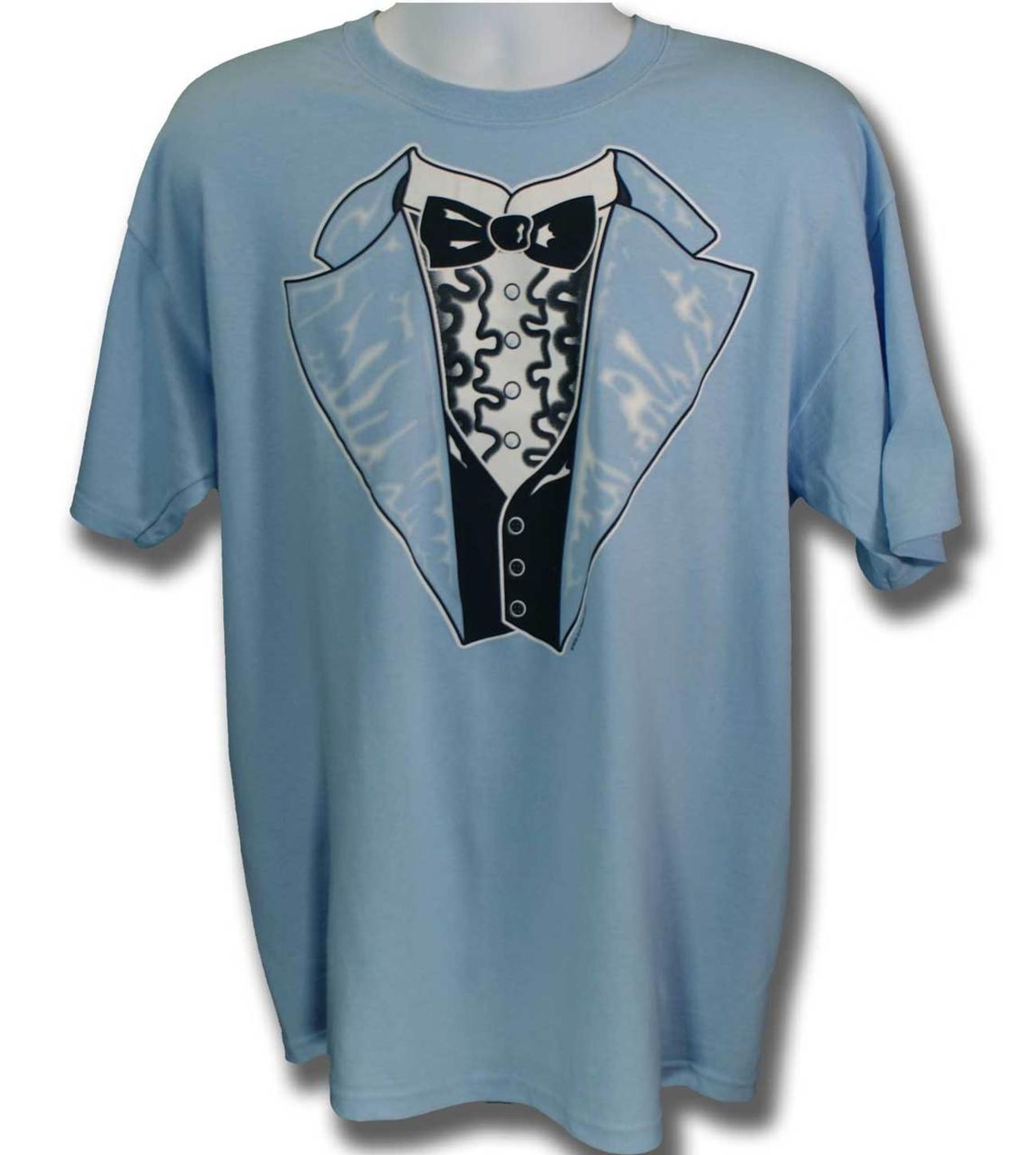 Retro Tuxedo T-shirt in Blue | Shop Men\'s Tuxedo Tees