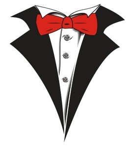tuxedo t shirt with red bow tie on white shop men s