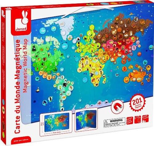 Janod magnetic animals world map bellani maternity janod magnetic animals world map gumiabroncs Gallery