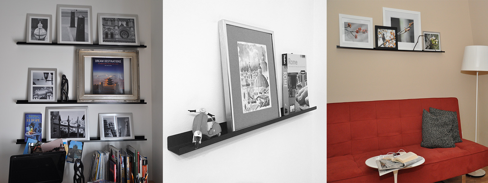 Picture ledges display shelves online store ultraledge ultraledge black picture ledges jeuxipadfo Image collections