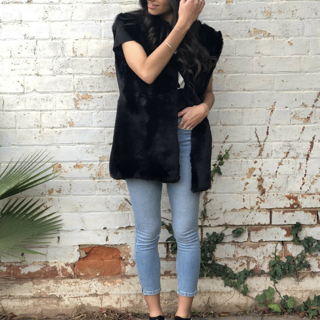Ladies Jackets | KL406 Vest in Black | KIIK LUXE