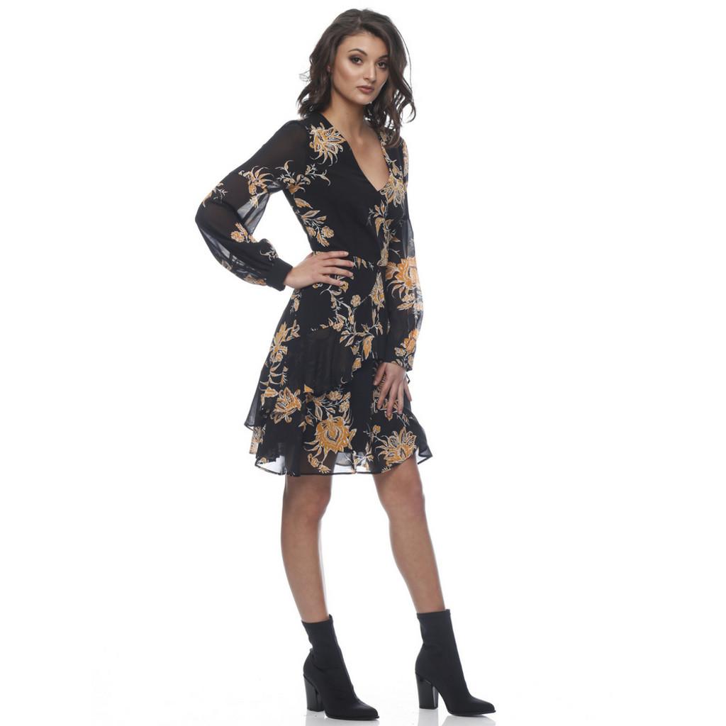 Ladies Dresses In Australia | Emily Ruffle Long Sleeve Dress | HONEY & BEAU