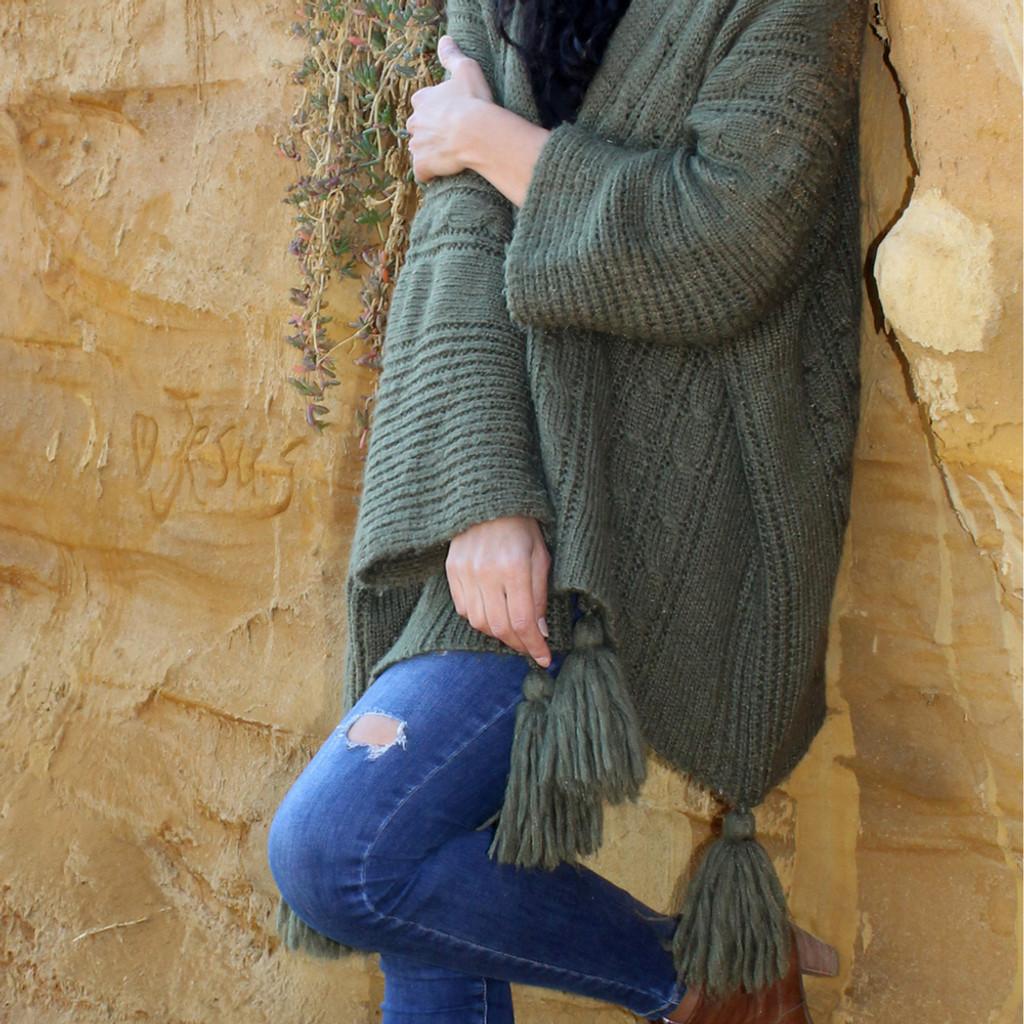 Luna Knit in Khaki by BIJOU*