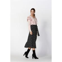 Women's Skirts Online | Dee Polka Dot Skirt With Tie | FATE + BECKER