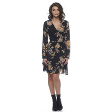 Ladies Dresses In Australia   Emily Ruffle Long Sleeve Dress   HONEY & BEAU