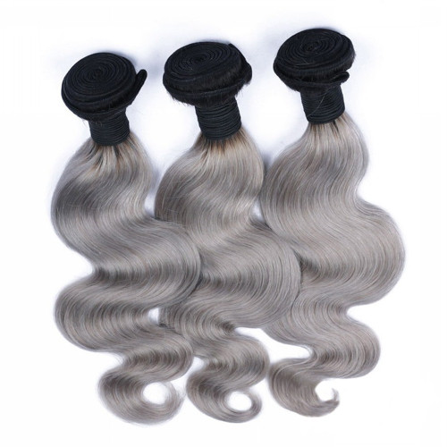 HUE Grey Body Wave 3 bundles