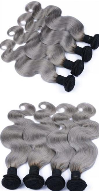 HUE Grey Body Wave 4 Bundles