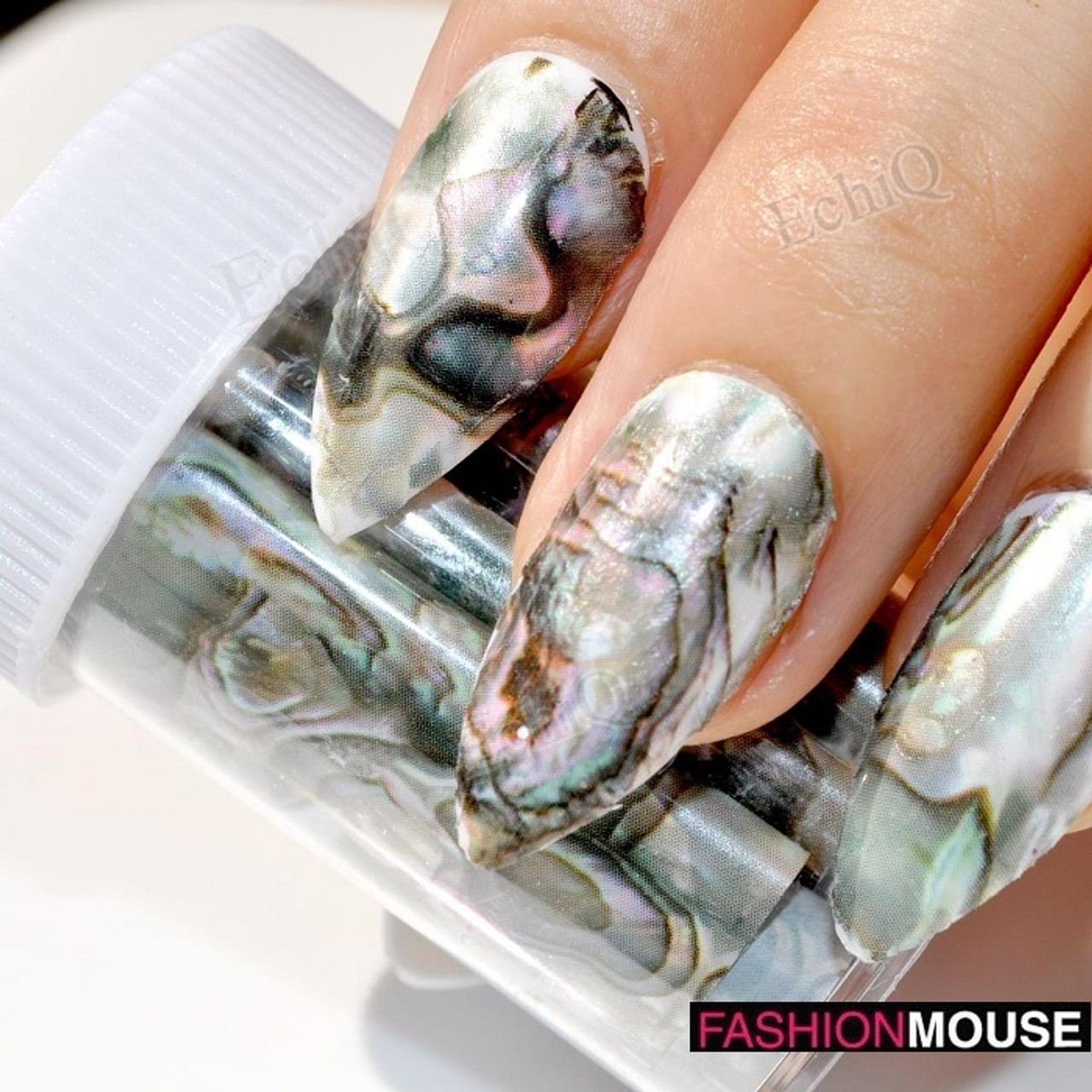Marble Design Nail Foil Stickers - Fashion Mouse