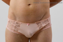 Cute lace inserts, smooth soft fabric.