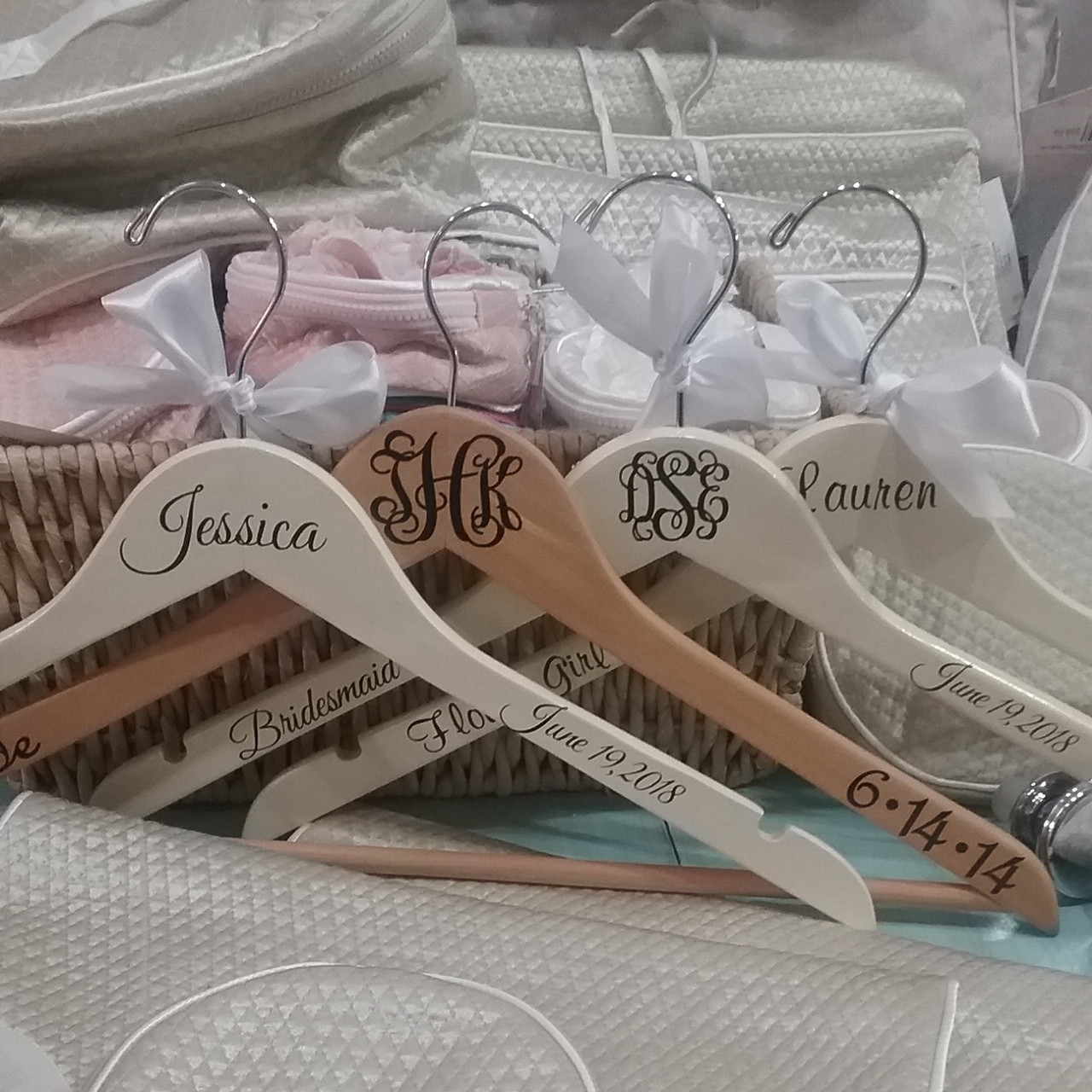 Personalized bridal party hangers the initial design gifts st personalized hangers for the bride negle Images