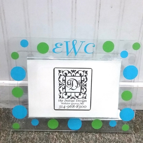 Personalized Dots Acrylic Frame