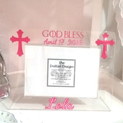 Personalized christening baptism gifts the initial design god bless personalized frame negle Choice Image
