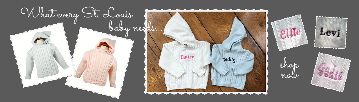 The initial design monograms embroidery personalized gift what every st louis baby needs negle Gallery