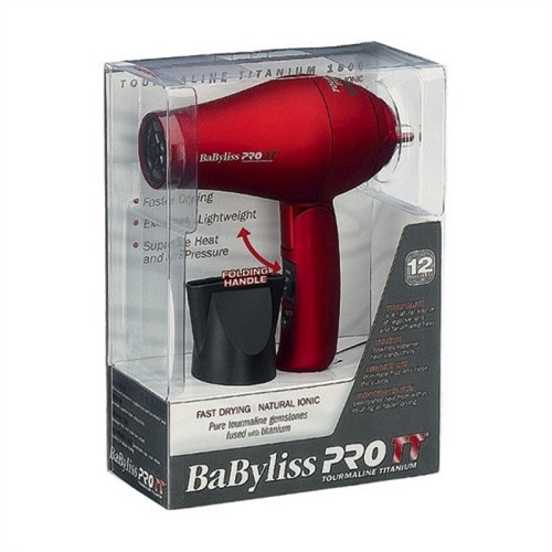 BaByliss PRO Red Travel Hairdryer