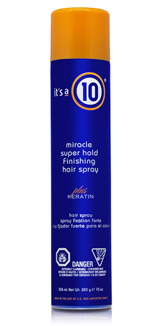 It's A 10 Miracle Super Hold Finishing Spray Plus Keratin