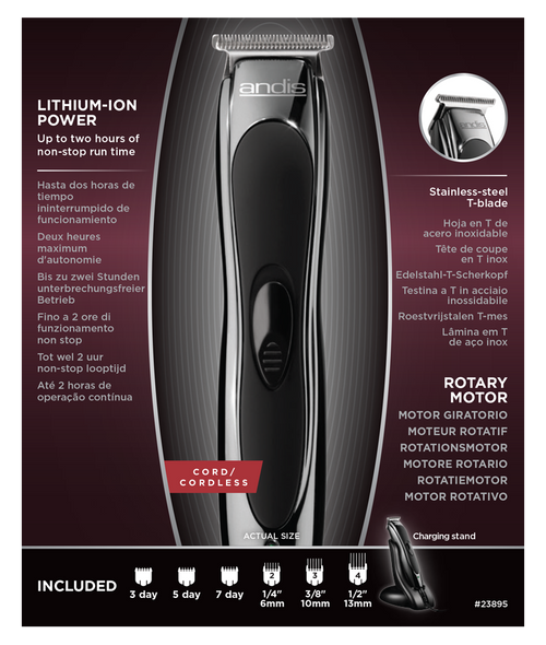 Andis Slimline 2 Cordless T-Blade Trimmer
