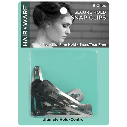 HairWare Secure Hold Snap Clips