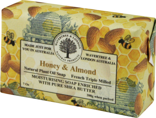 Wavertree & London Honey & Almond French Milled Australian Natural Soap