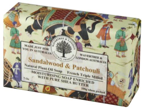 Wavertree & London Sandalwood & Patchouli French Milled Australian Natural Soap