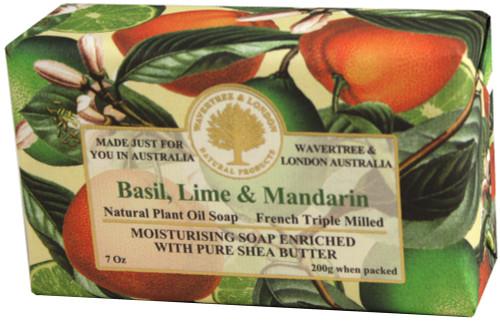 Wavertree & London Basil, Lime & Mandarin French Milled Australian Natural Soap