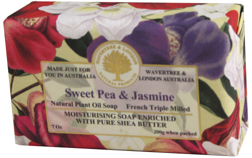 Wavertree & London Sweet Pea & Jasmine French Milled Australian Natural Soap