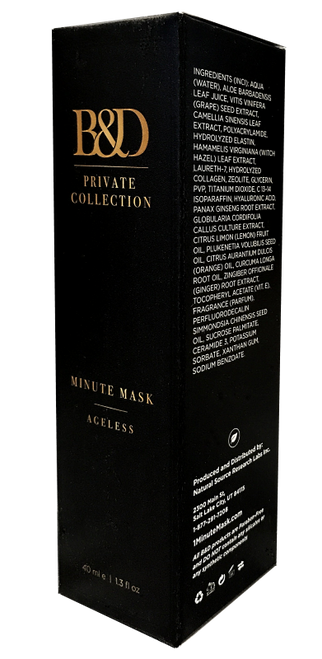 B&D Private Collection Minute Mask Ageless Treatment