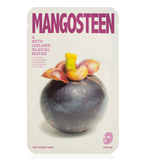 Mishe Mangosteen with Iceland Glacial Water Calming Face Mask