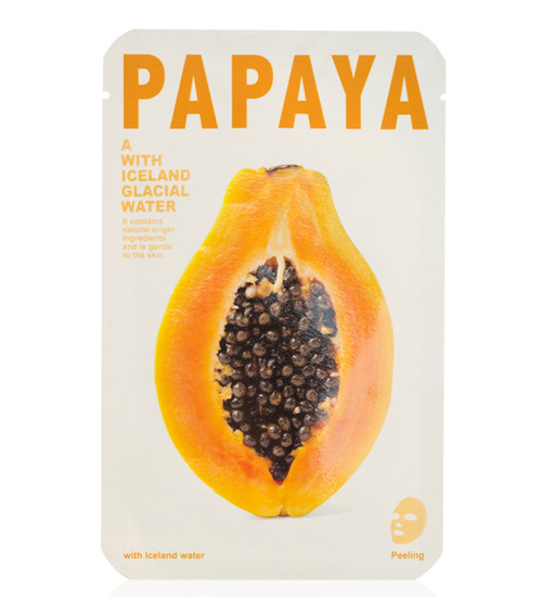 Mishe Papaya with Iceland Glacial Water Peeling Face Mask