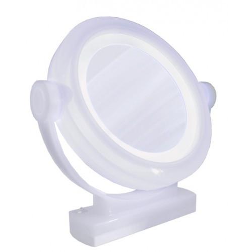 Brandon Femme 5X & Normal LED Vanity Mirror Transparent