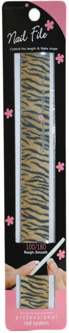 Glossy Blossom Nail File 100/180 Grit Wild Tiger