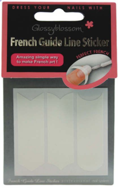 Glossy Blossom French Nail Tip Guide Multi Shape Stickers