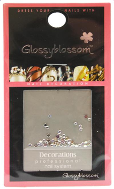 Glossy Blossom Rhinestone Nail Art Round Crystal 1.5mm