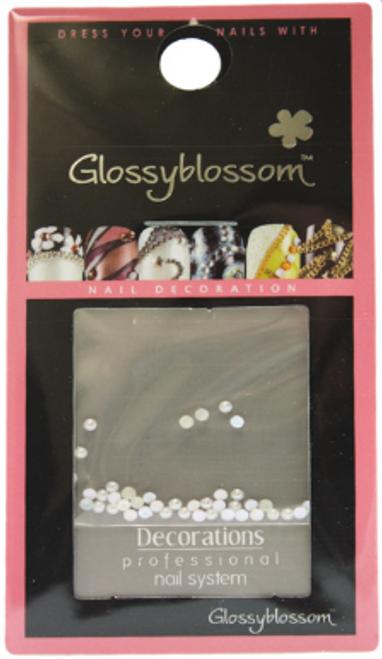 Glossy Blossom Sparkling Pearl Nail Stones