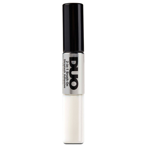 DUO 2-in-1 Brush-on Strip Lash Adhesive White to Clear + Dark Tone