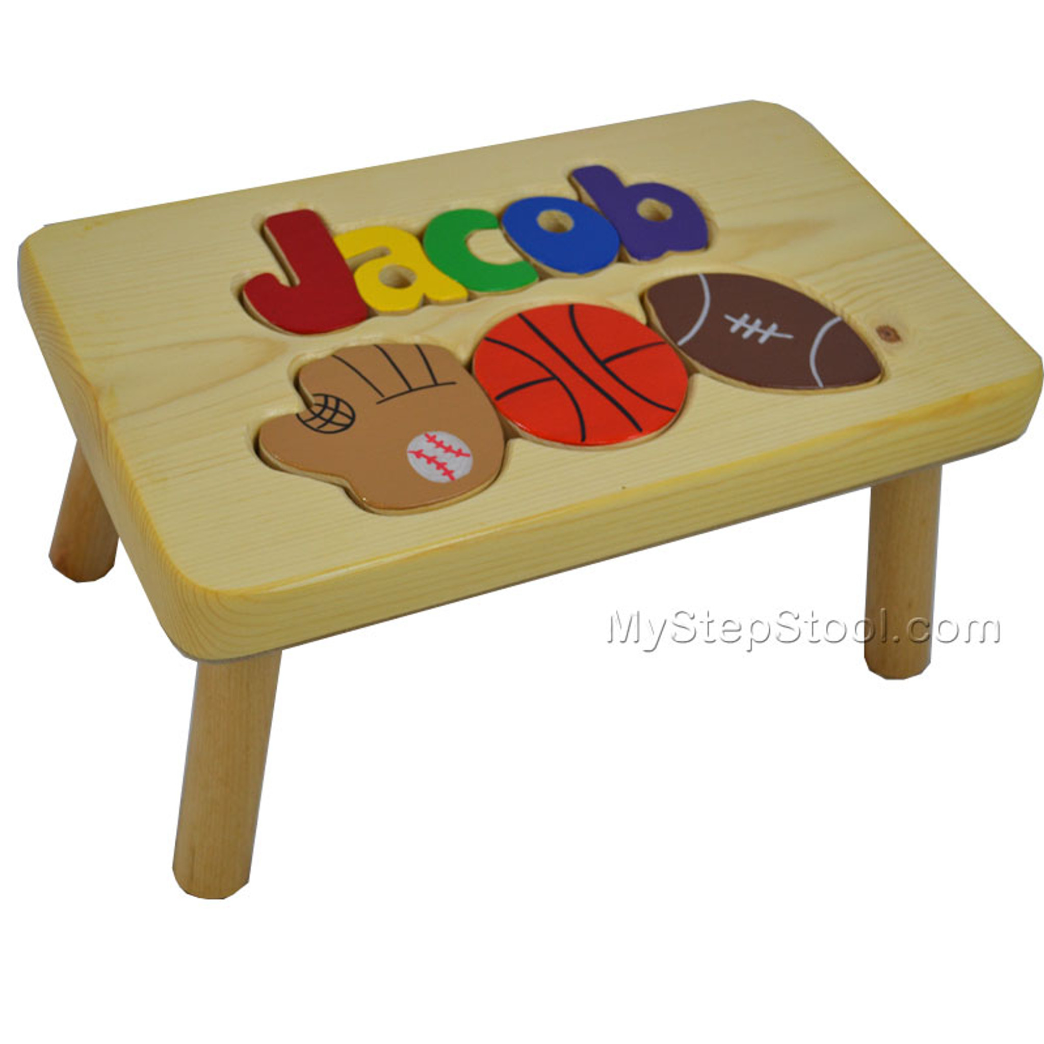 Sport Puzzle Name Step Stool